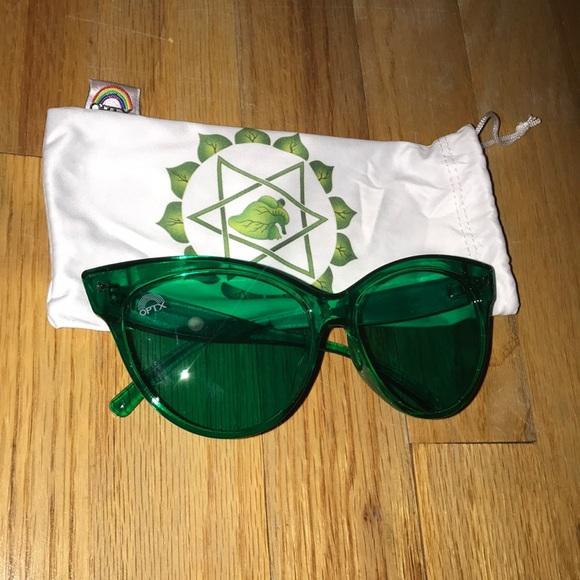 "395bd6771b50 Accessories - Rainbow OPTX Brand Green ""Aura"" Cat Eye Sunglasses"